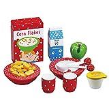 MaMaMeMo Alimentos: Fabuloso Desayuno con 11 Piezas Madera niñas/Juguete de Cocina de Juego de Roles (85042)