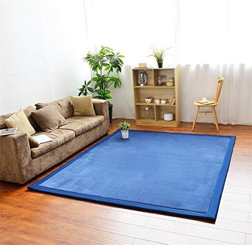 OHHCO Alfombra de refrigeración para sala de estar, dormitorio, ventana, terciopelo coral, espuma viscoelástica, color azul oscuro, 200 x 260 cm, para sala de estar (tamaño: 80 x 200 cm)