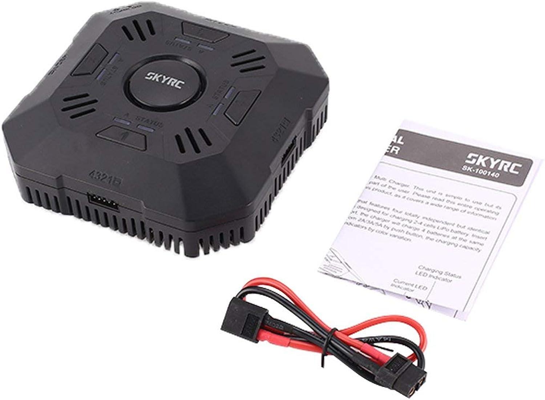Comomingo SKYRC E4Q 4Port Multi 24S Balance DC Drone Battery Charger Discharger(Black)