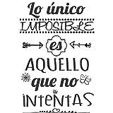 Frase Vinilo'Lo único imposible es aquello.' Vinilos decorativos. frases motivadoras DC-16126...
