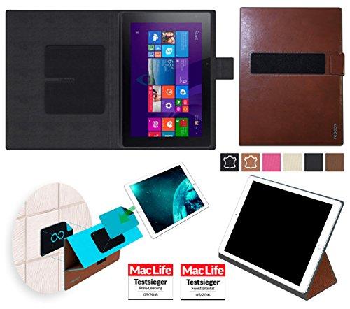 reboon Hülle für Acer Aspire Switch 10E Tasche Cover Case Bumper | in Braun Leder | Testsieger