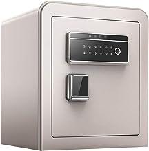 JBAMQ Fireproof Safe with Digital Keypad Feet,Home Smart Safe Small Metal Safe Deposit Box Safety Gun Cash Jewelry Passwor...