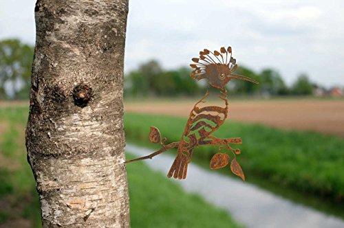 Combini Baumstecker Glücksvogel Wiedehopf, Gartendeko für den Baum.