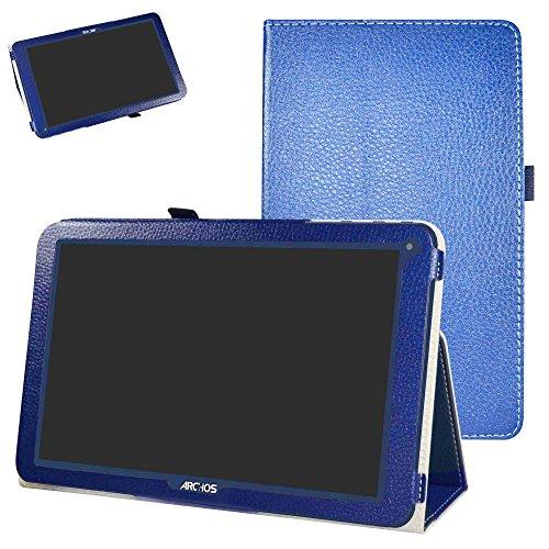 Mama Mouth ARCHOS 101E Neon Funda, Slim PU Cuero con Soporte Funda Caso Case para 10.1' ARCHOS 101E Neon Android Tablet PC,Azul Oscuro