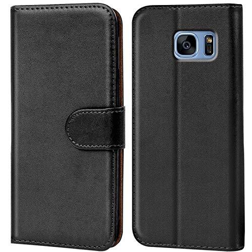 Verco Funda para Samsung Galaxy S7 Edge, Telefono Movil Case Compatible con Galaxy S7 Edge Libro Protectora Carcasa, Negro