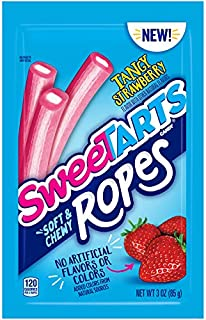 SweeTARTS Ropes Tangy Strawberry, 3 Ounce (Pack of 12)