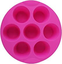 7 Cavity Silicone Mold Muffin Pudding Mould Bakeware Round Cup Cake Pan Baking Tray