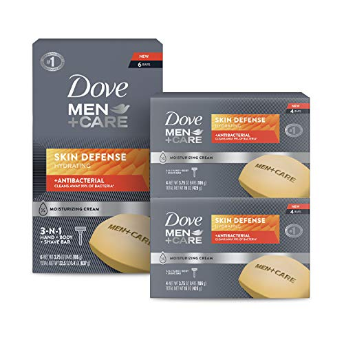Dove Men+Care Soap Bar For Smooth and Hydrated Skin Care Skin Defense Effectively Washes Away Bacteria While Nourishing Your Skin 3.75 oz 14 Count