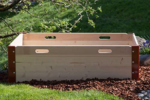 Schroth Home Hochbeet und Blumenkübel aus Holz für Balkon und Garten
