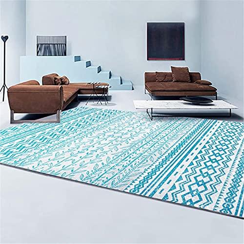 LBMTFFFFFF Alfombra alfombra alfombra para el hogar, salón, felpudos, alfombra grande, rectangular, estilo étnico, suave y agradable al tacto, única, 60 x 90 cm