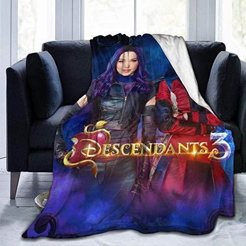 YYdg Kuscheldecke Decke Descendants 3 Evie 50'x40' SFlannel Fleece Soft Throw Blanket for Settees/Sofa/Chairs/Couch - Lightweight, Warm and Cozy