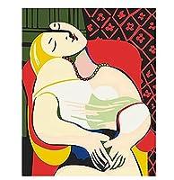 番号による油絵キャンバス上の抽象画手描きアートギフト番号によるDIYぬりえキット家の装飾40×50cm(フレームなし)