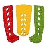freneci Paquete de 3 Almohadillas Traseras Antideslizantes para Skimboard, Almohadillas de Tracción para Surf de Longboard