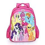 UNILIFE Zaino per Ragazza Zaini Unicorno Zaino My Little Pony S M L 3 Taglie di Kit Scuola per Studenti per Ragazze dai 5 Ai 12 Anni