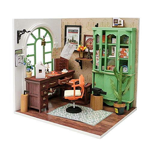 XIJIANG DIY Jimmy's Studio casa de muñecas con muebles niños adultos miniatura casa de muñecas kits de madera de juguete DGM07JimmyStudio