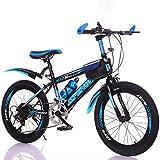 ZHTY Bicicleta para niños Bicicleta de montaña de Velocidad Variable de 22 Pulgadas, sillín cómodo, Pedal Antideslizante, Freno Seguro y Sensible, Bicicleta de montaña portátil para Estudiantes