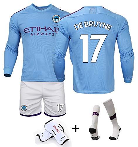 DUBAOBAO 19-20 home No.17 / No10 / No.7 voetbal kleding pak, volwassen voetbal spel jersey lange mouwen jurk - extra sokken en beschermende uitrusting