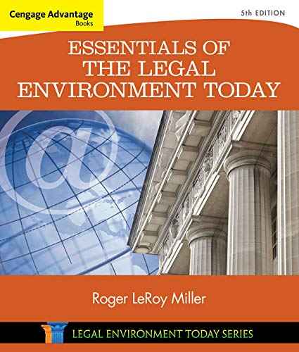 Compare Textbook Prices for Cengage Advantage Books: Essentials of the Legal Environment Today 5 Edition ISBN 9781305262676 by Miller, Roger LeRoy