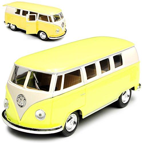Kinsmart Volkwagen T1 Gelb Creme Weiss Samba Bully Bus 1950-1967 1/32 Modell Auto