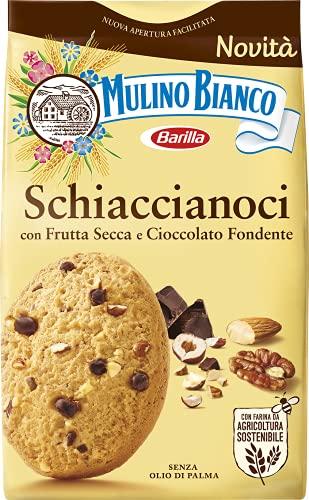 Mulino Bianco Biscotti Frollini Schiaccianoci con Frutta Secca e Cioccolato Fondente, Senza Olio di...