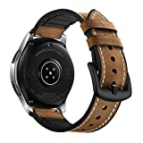 Myada para 22mm Correas Galaxy Watch 46mm Piel, Correa Samsung Gear S3 Frontier Cuero, Correas...