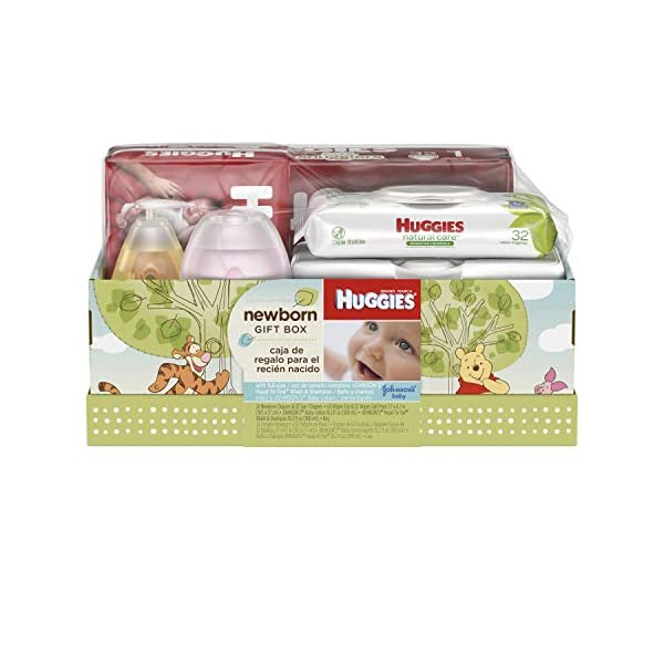 Huggies Newborn Gift Box – Little Snugglers Diapers (Size Newborn 24 Ct &...