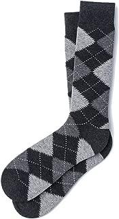 Men's Hipster Designer Argyle Design Luxury Crew Dress Socks