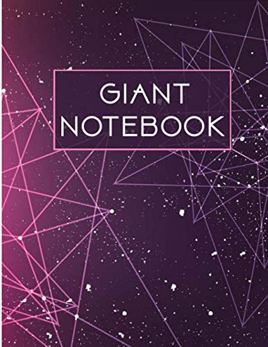 Giant Notebook: 550 Pages College Ruled - Extra Large Jumbo Journal Composition Notebook (Stars Cover)