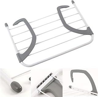 NANAD Tendedero de radiador, extensible plegable para secar ropa, estante de secado de ropa, ancho ajustable, tendedero para colgar ropa | Tendedero de radiador, No nulo, gris, Tamaño libre