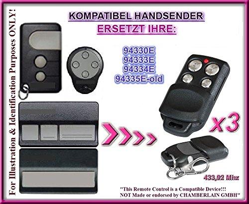 3 X Liftmaster 94330E / 94333E / 94334E / 94335E-OLD kompatibel handsender, ersatz sender, 433.92Mhz rolling code. 3 Stücke Top Qualität ersatzgeräten!!!