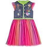 JoJo Siwa Big Girls Hooded Flutter Sleeve Costume Dress Bow Green 10/12