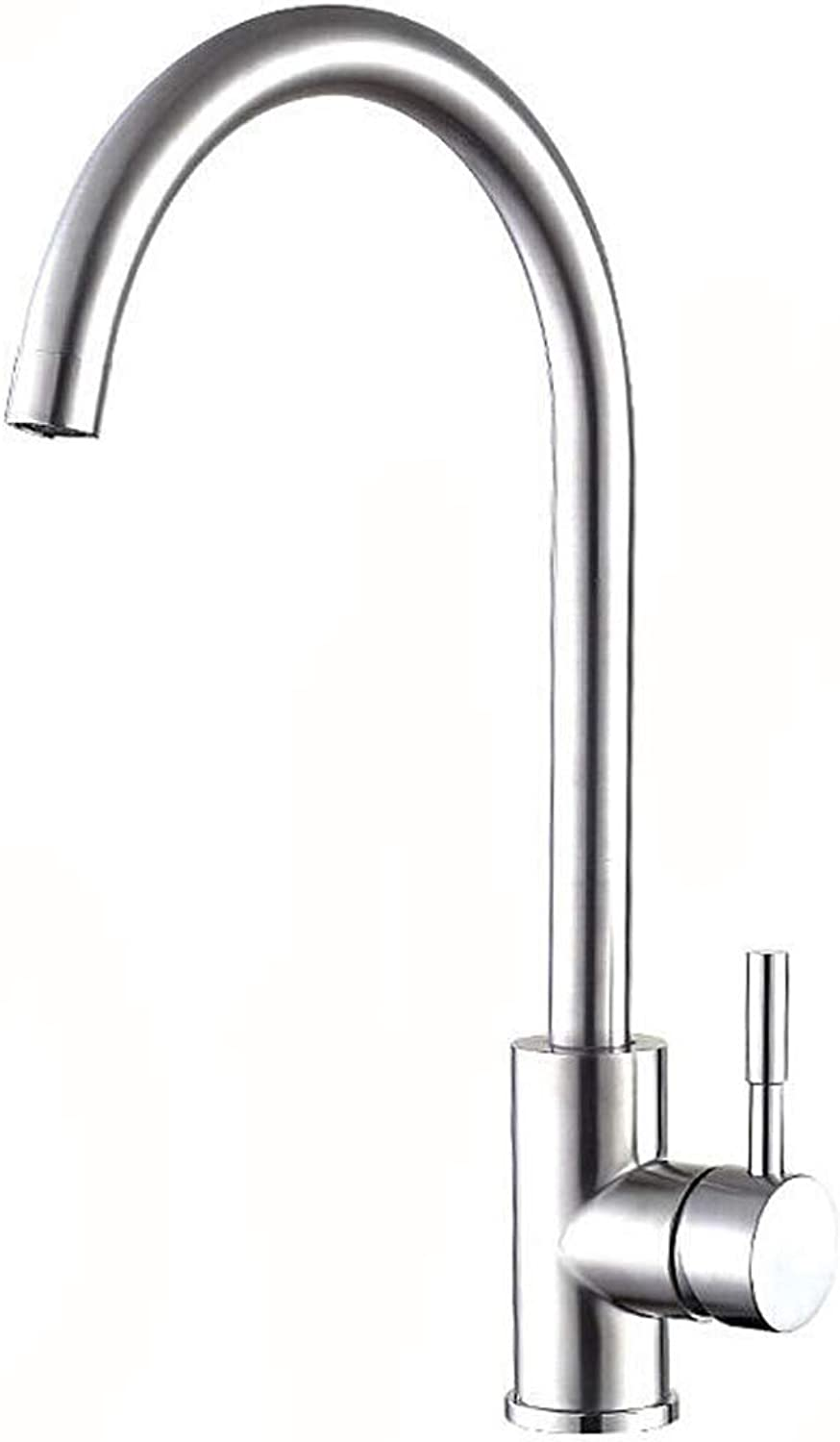 Nosterappou 304 stainless steel hot and cold universal kitchen faucet, sink hot and cold water faucet, redatable sink faucet does not splash