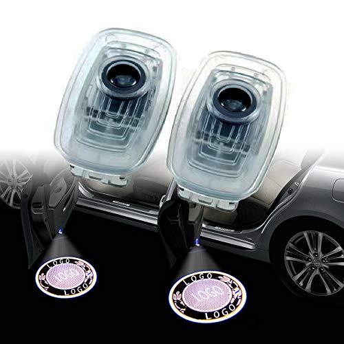 Luz de bienvenida de la puerta del coche 2 PCS LED CAR PUERTA DE CUERTE LOGO LOGO PROYECTOR LÁSER CORTEZA LUCES LUCHA DE LÁMPARMAS BIENVENIDAS Compatible con MERCEDES BENZ CLA CLS 2018 2018 2018 2020