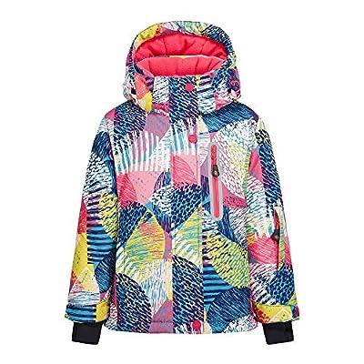 Girl's Waterproof Ski Jacket Windproof Inner Warm Fleece Winter Snow Coat for Snowboarding (8, 53Jacket)