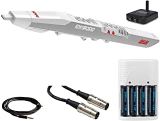 Akai Professional EWI5000 | Electronic Wind Instrument with Wireless Audio Receiver & USB MIDI Control (White) + MIDI Cable + Instrument Cable + 4 AA Batteries & White Charger