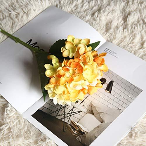 Hunpta @ Künstliche Hortensie Blumen Kunstblumen Blumenarrangement DIY Büro Haus Balkon Garten Hochzeit Party Valentinstag Dekoration