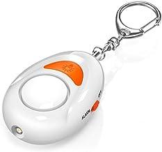 Persoonlijk alarm, personeel alarm, paniekalarm sleutelhanger, 125 dB beveiligingsalarm met ledlicht, voor vrouwen, meisje...