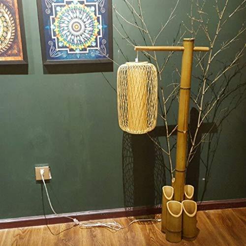 Staande lamp voor het huis, led, staande lamp in Chinese stijl, creatief, retro stijl, Zen, woonkamer, slaapkamer, vislamp, klassieke Japanse stijl Hout