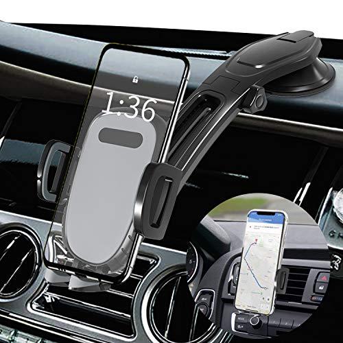 Handyhalter für Auto Armaturenbrett, BEENLE Saugnapf Handyhalterung Auto mit Lüftung Klemme, Universeller KFZ Handy Halterung fürs Auto Smartphone Halter 360°Drehbar fürs iPhone Samsung Huawei