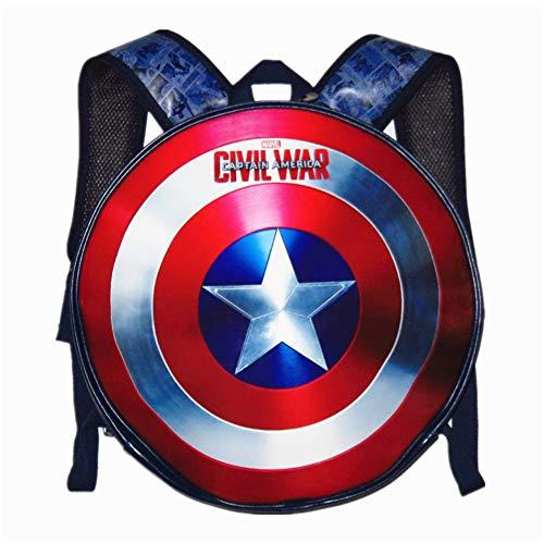 SXELODIE Capitán América Escudo Mochila Pentagrama Escudo Mochila Hombres y Mujeres Personalidad del…