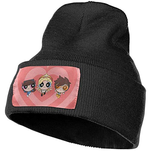 nvbao Die Powerpuff Girls Strickmütze Winter Unisex Warm Ski Cap Beanie Cap Bla