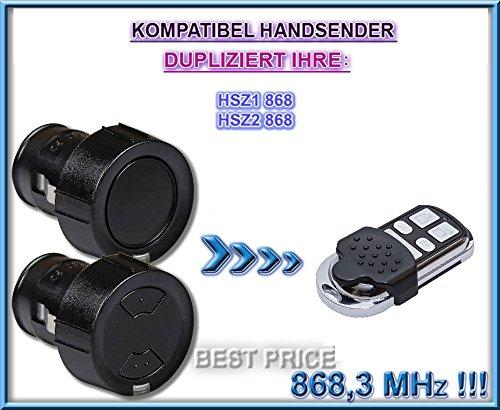 Hörmann HSZ1 868 / Hörmann HSZ2 868 compatibel handzender, kloon afstandsbediening, 4-kanaals 868.3Mhz vaste code. Topkwaliteit kopieerapparaat. (Niet compatibel met BS BiSecur afstandsbedieningen)