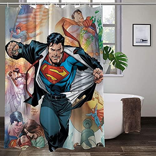Wasserdichter, ungiftiger Duschvorhang, Superman-Duschvorhang, farbenfroh, verschleißfest, hochtemperaturwiderstandsfähig, Badezimmer-Gardinen
