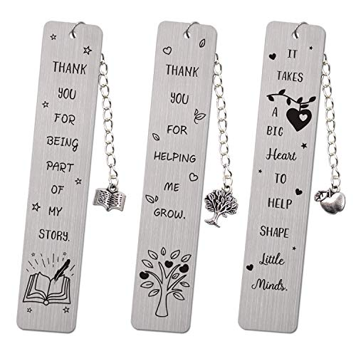 Teacher Appreciation Bookmark Teachers Gifts Thank You Gifts from Students Graduation Gift Back to School Gift Special Teacher Gift Metal Bookmark with Tassel Set of 3 Teacher Appreciation Gift