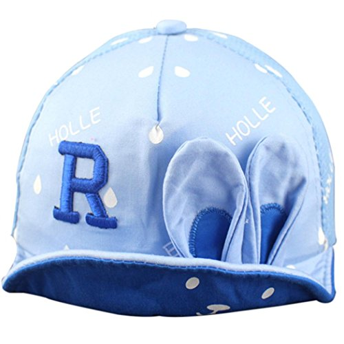 Ouneed® 5 mois à 5 ans Enfant Bebe Chapeau de Solaire Baseball Caps (Bleu)