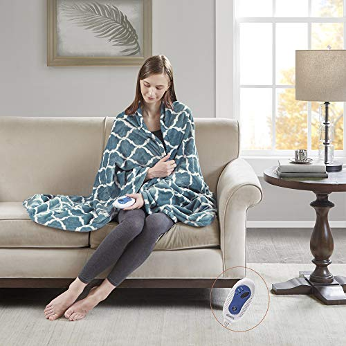 Beautyrest Plush Electric Throw Blanket – Secure Comfort...