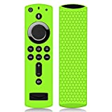 Remote Case/Cover for Fire TV Stick 4K, Protective Silicone Holder Lightweight [Anti Slip] ShockProof for Fire TV Cube/Fire TV(3rd Gen)Compatible with All-New 2nd Gen Alexa Voice Remote Control-Green