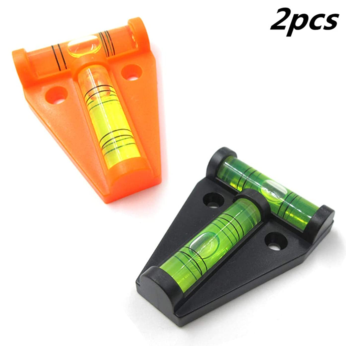 UBEI RV T-Level Shatterproof Cross Check Bubble Level 2 Way Multipurpose For RVs, Camping, Hobby, Milling, Machines, Furniture, Trailers, Construction, Home, Tripods, Camera Equipment, Etc (2 pcs)