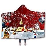 Alecony Baumwolle Kuscheldecke Kinderdecke für Kinder Jungen Mädchen, Weihnachten Weihnachtsmann Babydecke Therapiedecke, Krabbeldecke Fleecedecke Schal für Babyschale Kinderwagen, 130x150 cm (D)