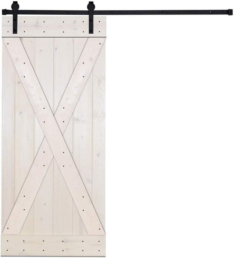 DIY Paneled Wood Sliding Barn Ki Door Beauty products Hardware Installation discount with